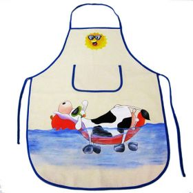 """Delantal """"Vaca en el mar"""""""
