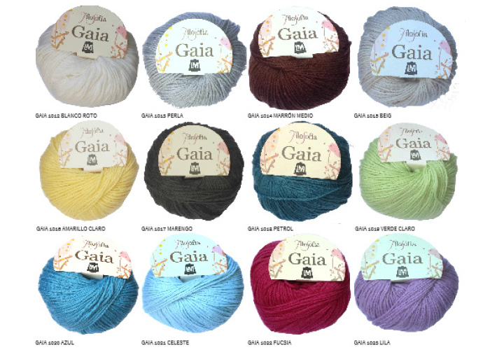 Coleccion de Lanas Gaia de Hilaturas LM