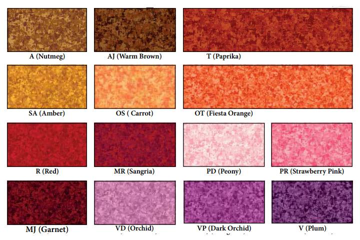 Coleccion Telas de Patchwork Color Blends