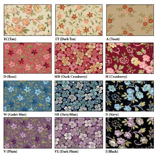 Coleccion de Telas de Patchwork Petals