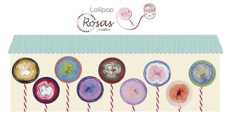 Coleccion Lanas Lollipop de Rosas Crafts