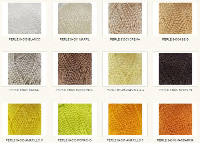 Coleccion de lanas Perlé