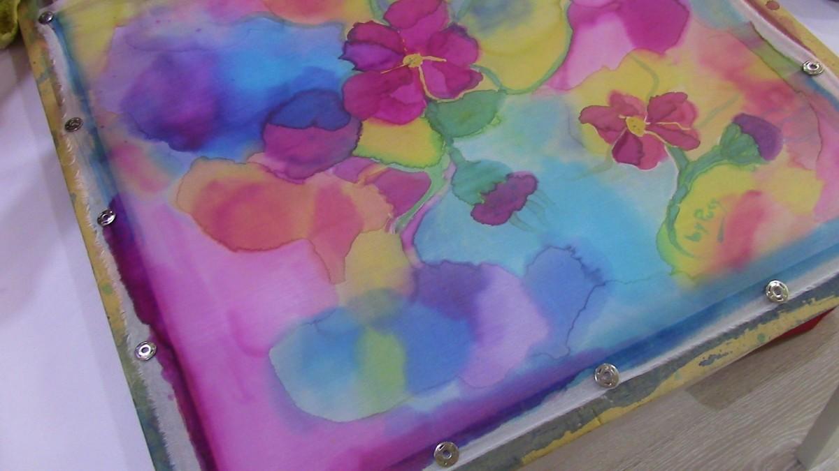 Primer curso de Pintura en Seda en QueSeCose