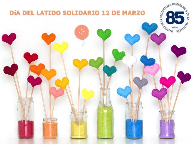 Día del latido solidario: haz un corazón de fieltro
