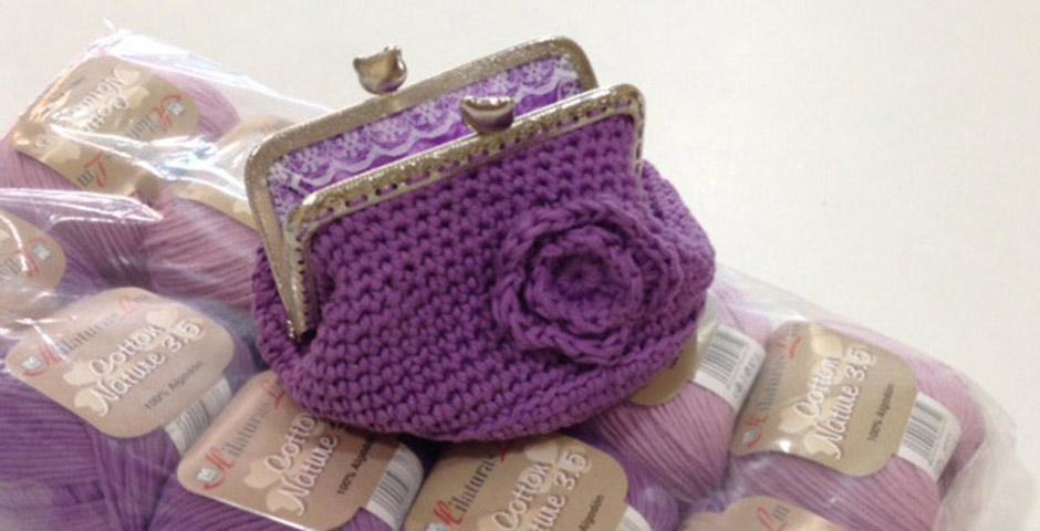 Monedero de Crochet con Boquilla