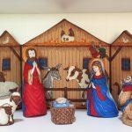 Panel de Patchwork Belén de Navidad